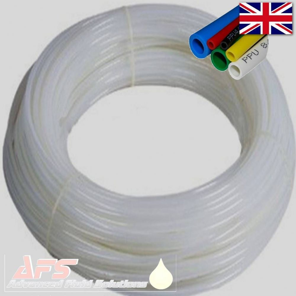 10mm OD x 7mm ID Metric Polyurethane Flexible Tubing PU Air Pipe WHITE